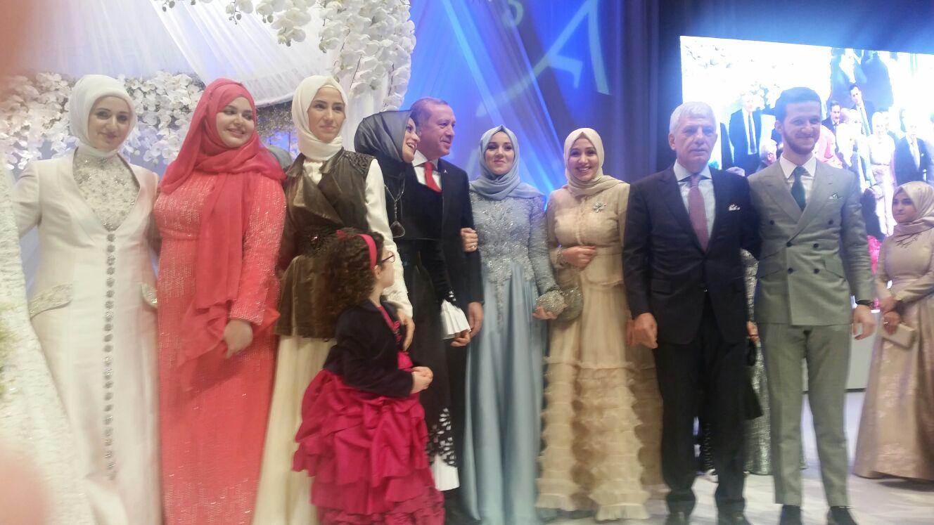 Erdoğan, yeğeninin nikah törenine katıldı