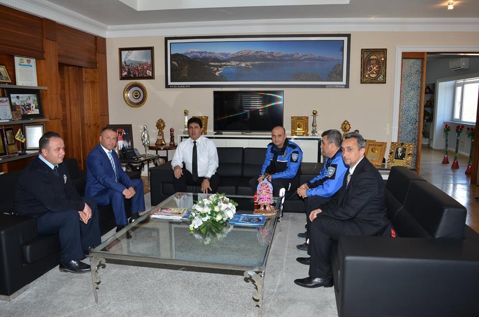 Başkan Gül'e Kumluca Emniyet Müdürlüğünden Teşekkür Ziyareti