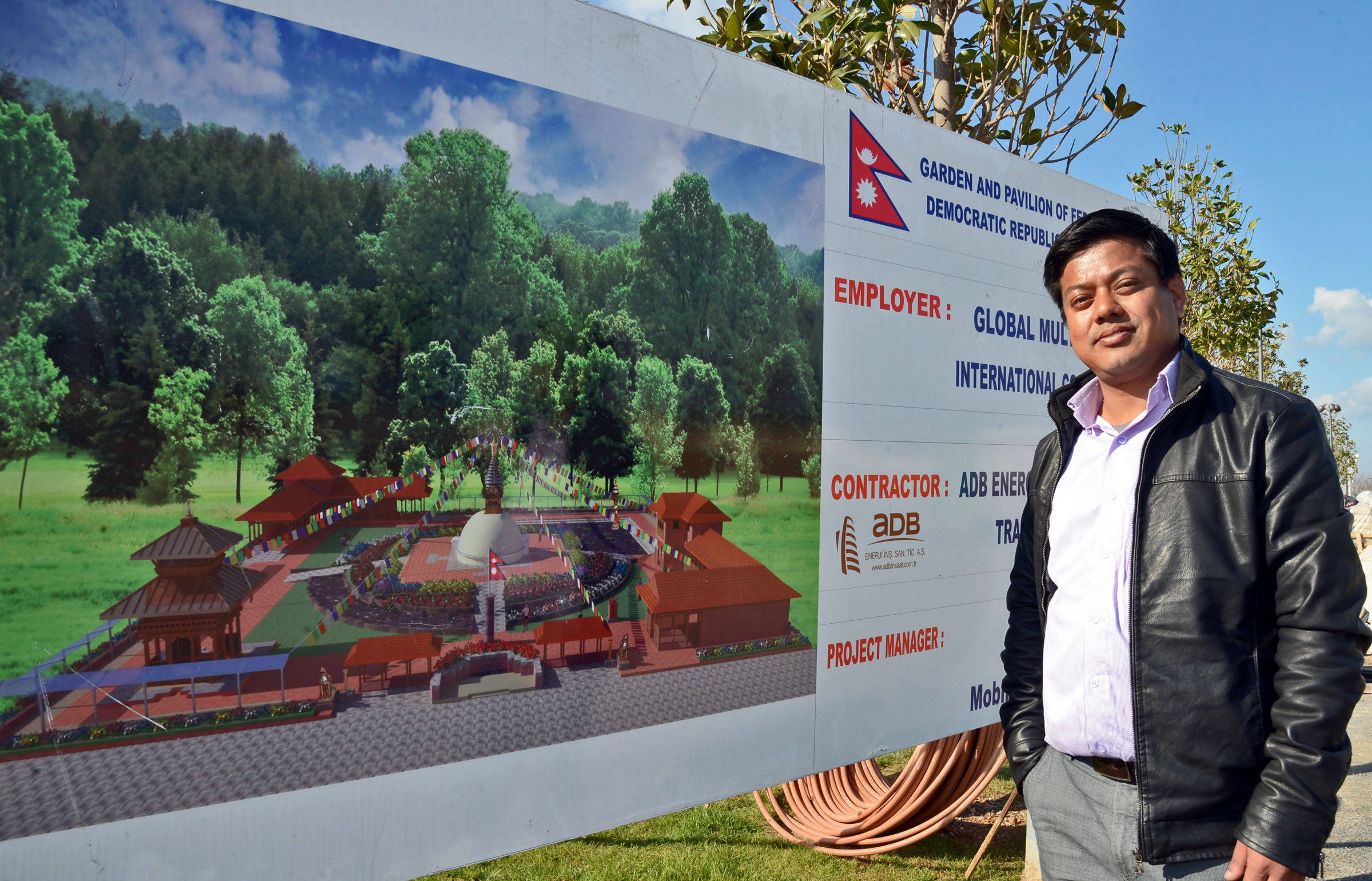"""Nepal """"HimalayaBahçesi""""nin yapımını sürdürüyor"""