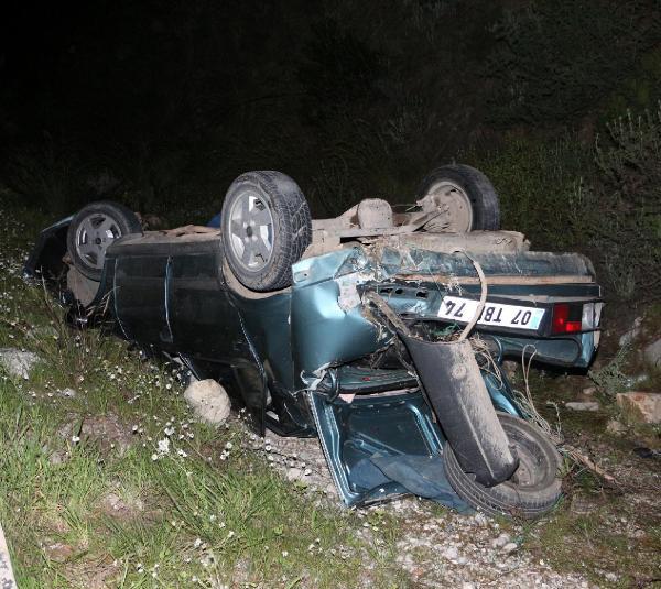 'Dur' ihtarına uymadı, takla atan otomobilde öldü