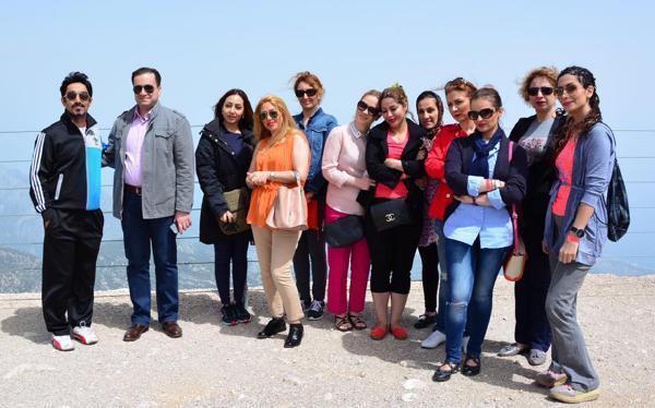 İranlı turizmci ve gazeteciler Tahtalı zirvesine çıktı