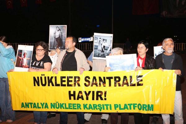 Çernobil faciasının yıldönümünde nükleer karşıtı eylem