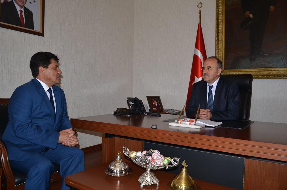 Konya Valisi Başkan Gül'ü Makamında Kabul Etti