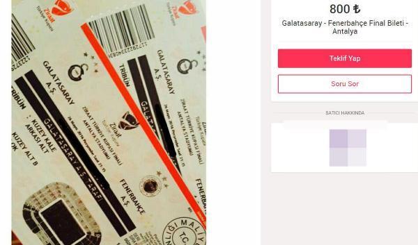 Ziraat Türkiye Kupası finalinin biletleri 10 katına karaborsada