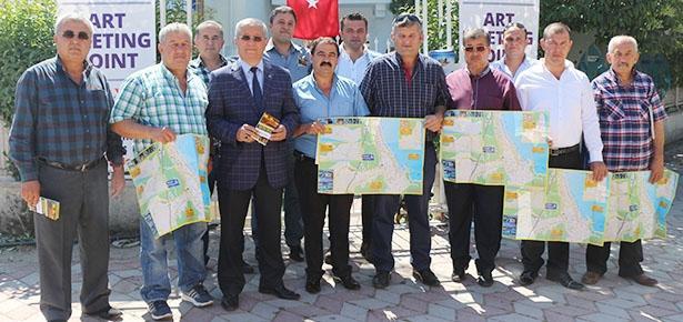 Şoförlerden turistler için Kemer haritası