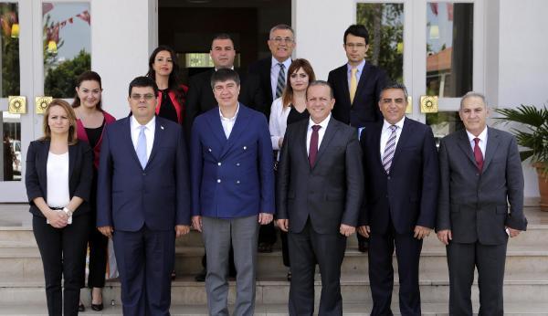 KKTC'li Bakanlar Türel'i ziyaret etti