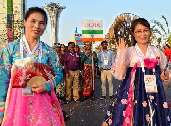 Ramazan, Expo 2016'da dostluk kortejiyle karşılandı