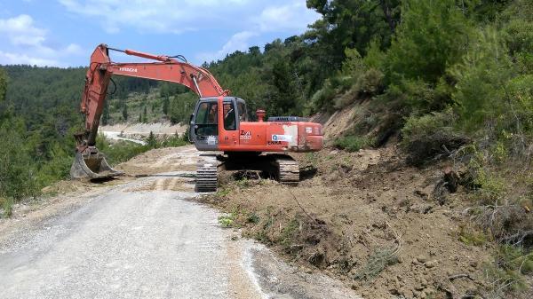 Yaylaalan yolu asfalta kavuşuyor