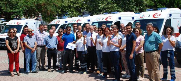 Antalya'ya yedi ambulans daha