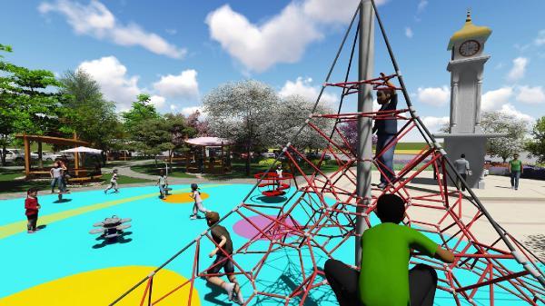 Kumluca'ya saat kuleli park yapılıyor