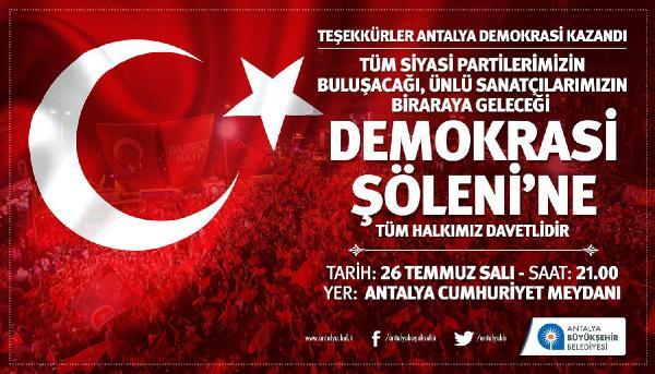 Antalya'da demokrasi şöleni yaşanacak