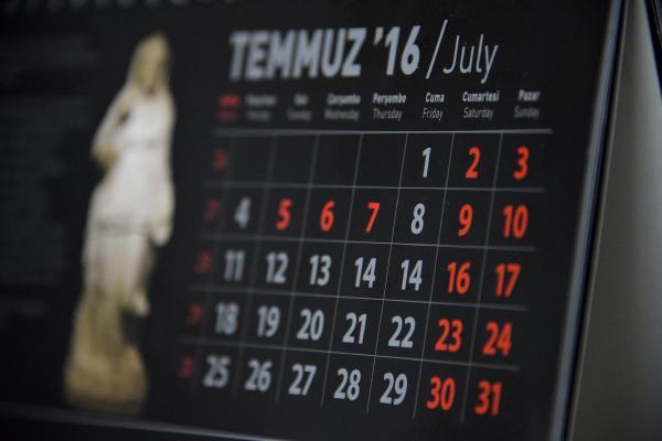 2016 takviminde '15 Temmuz' hatası