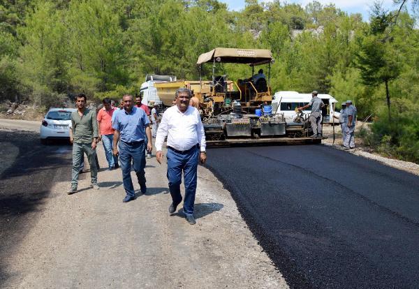 Beycik yolu asfaltlanıyor