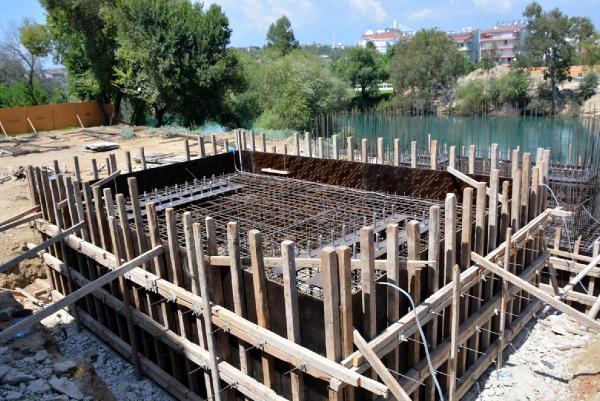 Manavgat yaya köprüsü temeli atılıyor
