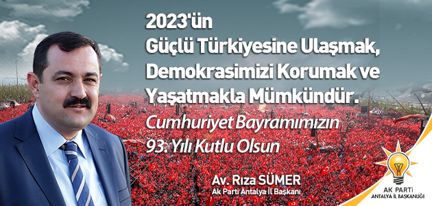 2023'ÜN GÜÇLÜ TÜRKİYE'SİNE ULAŞMAK, DEMOKRASİMİZİ KORUMAK VE YAŞATMAKLA MÜMKÜNDÜR.