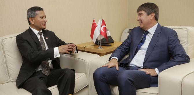 Singapur Dışişleri Bakanı Balakrishnan'dan, Başkan Türel'e Ziyaret