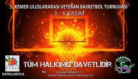 Kemer Uluslararası Veteran Basketbol Turnuvası Başladı