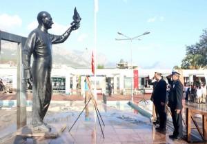 Kemer'de Atatürk anıldı