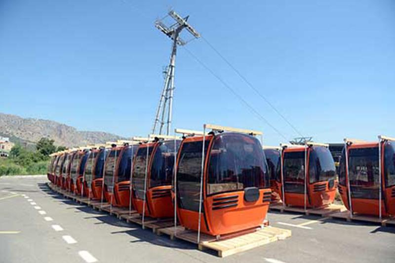 Tünektepe'ye teleferik projesinde test sürüşleri başladı