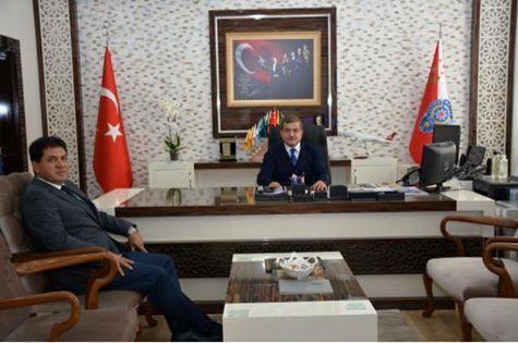 Başkan Gül İl Emniyet Müdürü Uzunkaya'yı Makamında Ziyaret Etti