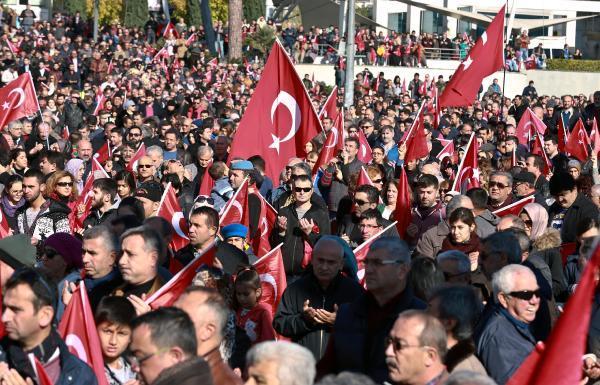Antalya teröre karşı tek yürek