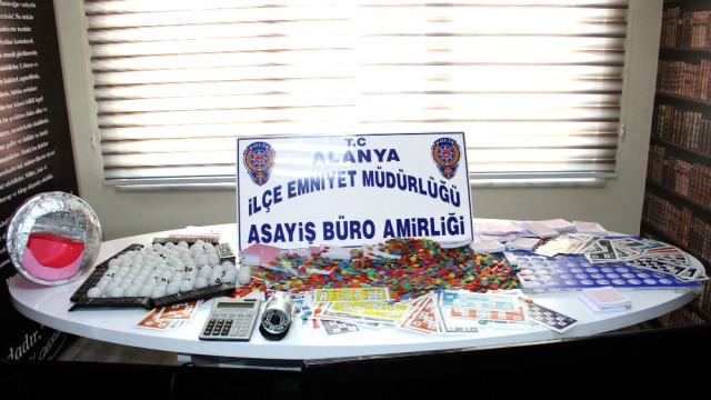 Alanya Polisinden Tombala Baskını