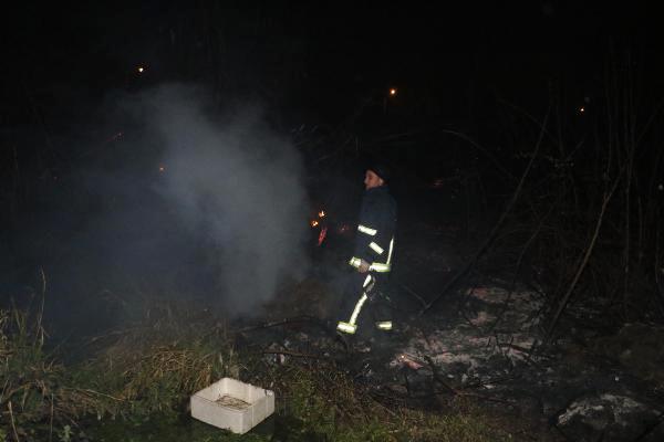 Antalya'da Çalılık Yangını
