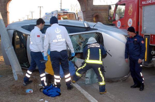 Otomobille kaza yapan kardeşlerden biri öldü