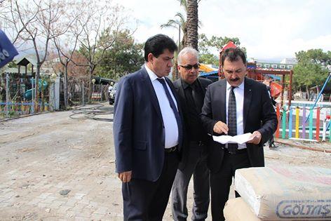 Kemer Belediye Başkanı Mustafa Gül Sahil Projesini Yerinde Denetledi