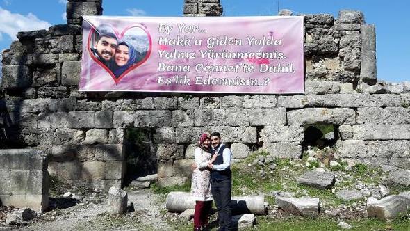 Antik kentte sürpriz evlilik teklifi