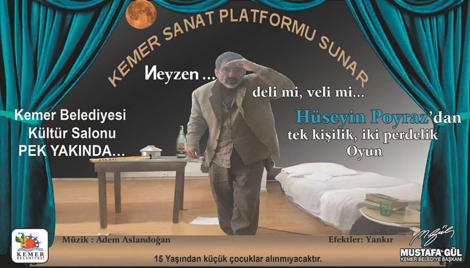 """'NEYZEN' PEK YAKINDA KEMER BELEDİYE KÜLTÜR SALONUNDA """"NEYZEN"""""""