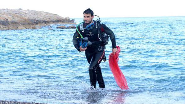 Önce eğitim sonra deniz temizliği