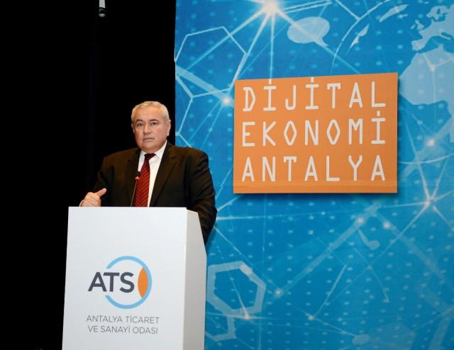 """Atso'nun """"Dijital Ekonomi Antalya"""" Etkinliği Büyük İlgi Çekti"""