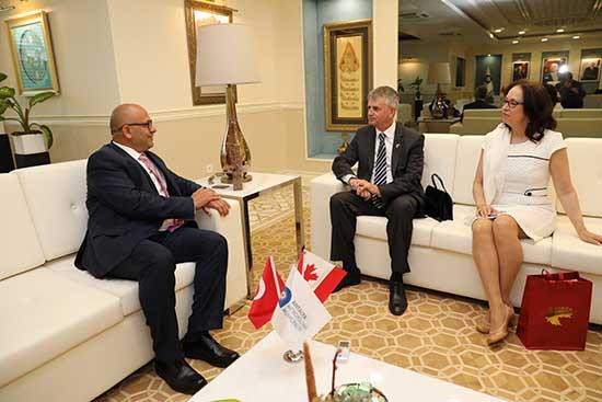 Kanada Büyükelçisi Cooter'dan Başkan Vekili Afşar'a ziyaret