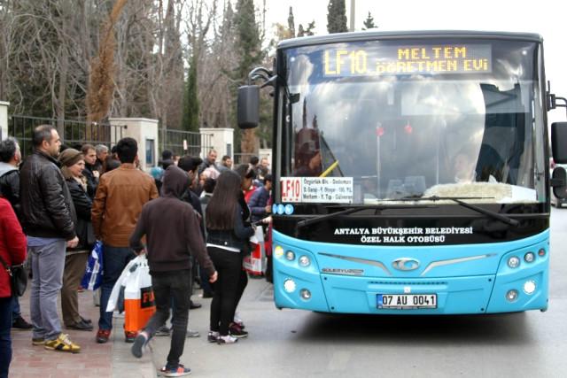 Antalya'da Ulaşıma Zam