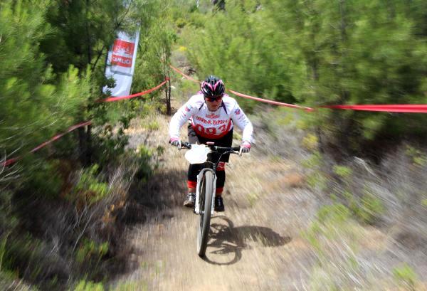 Down-Olympos Bisiklet Yarışı Başladı
