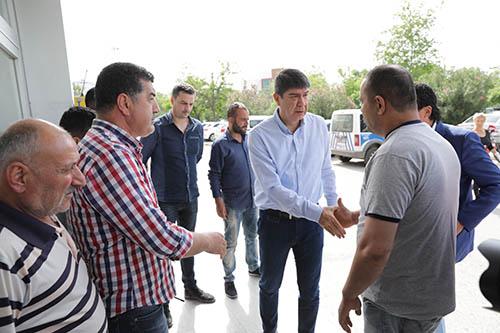 Türel, Antalyaspor taraftarlarını hastanede ziyaret etti