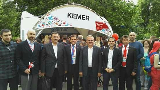 Antalya  Valisi Kemer standında