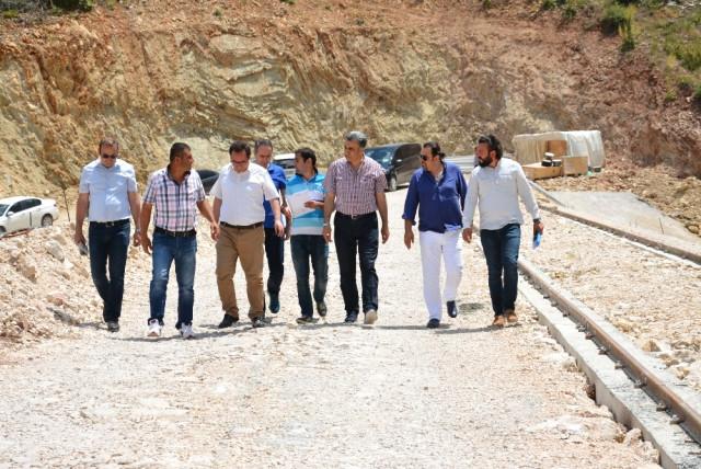 Coşkun, Adrasan Barajı ve Sulaması İnşaatlarını İnceledi