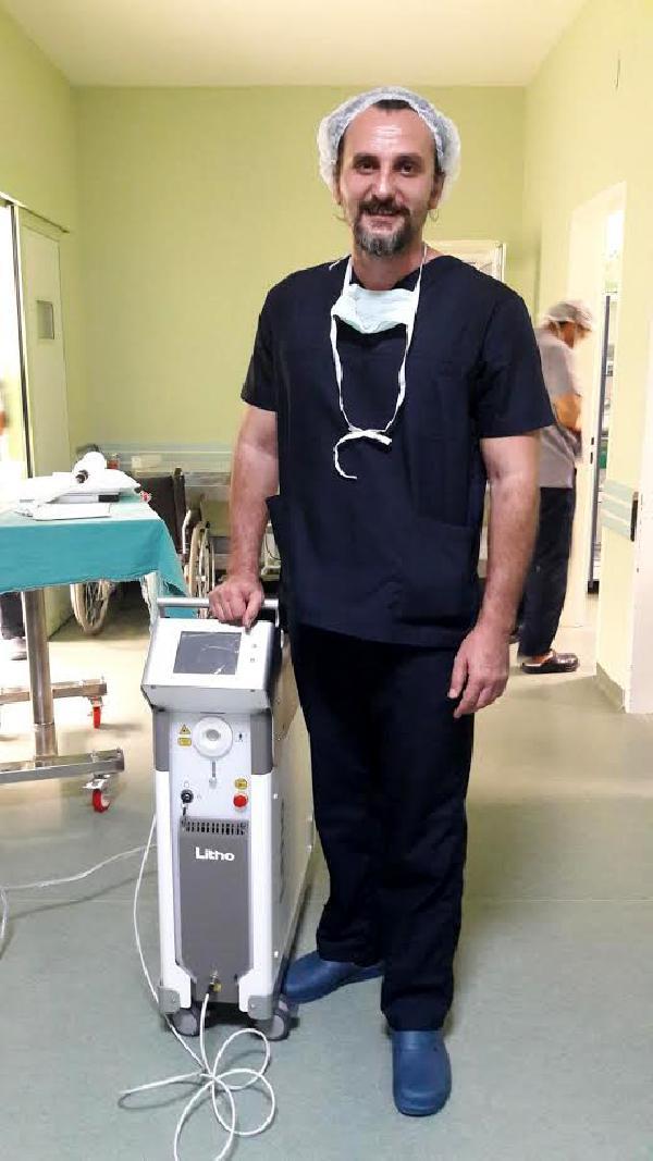 Devlet hastanesine taş kırma cihazı