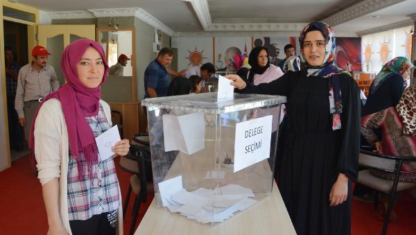 Korkuteli'de delege seçimi