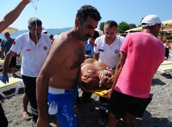 Denizde kalp krizi geçirip öldü