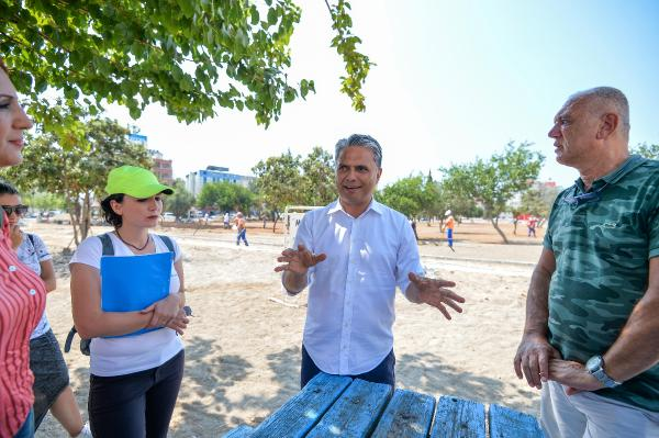 Tarık Akan Parkı'na başkan denetimi
