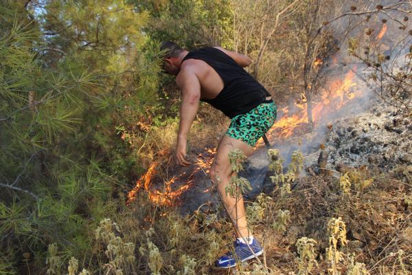 Çamyuva'da orman yangını