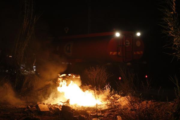 Sazlık Alanda Çıkan Yangın Korkuttu
