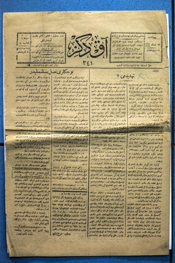 100 yıl öncesinin gazetesi