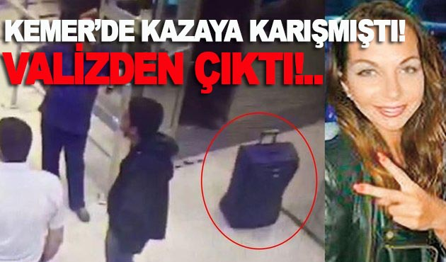Rus kadın valizden çıktı!