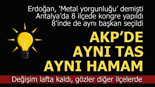 AKP'de değişim sözde kaldı
