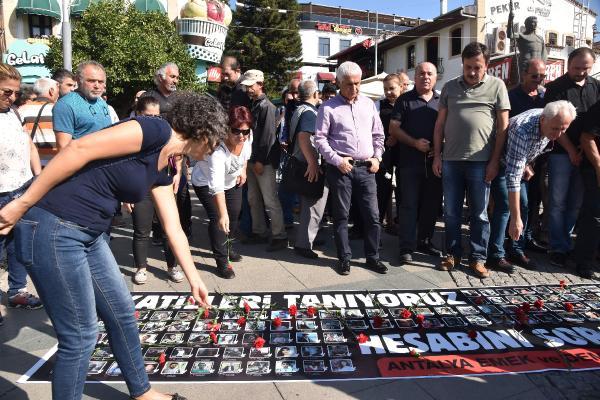 Ankara'daki patlamada ölenler Antalya'da anıldı