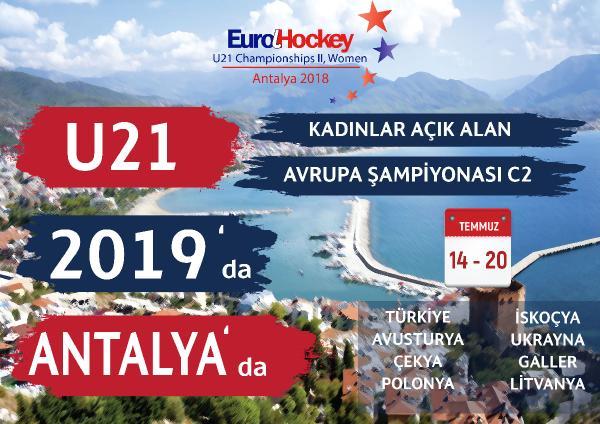 U21 Kadınlar Açık Alan Hokeyi C2 Avrupa Şampiyonası, Türkiye'de yapılacak